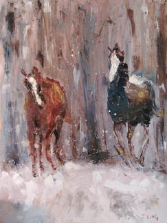 Jenny King Artist Horses Oil Painting