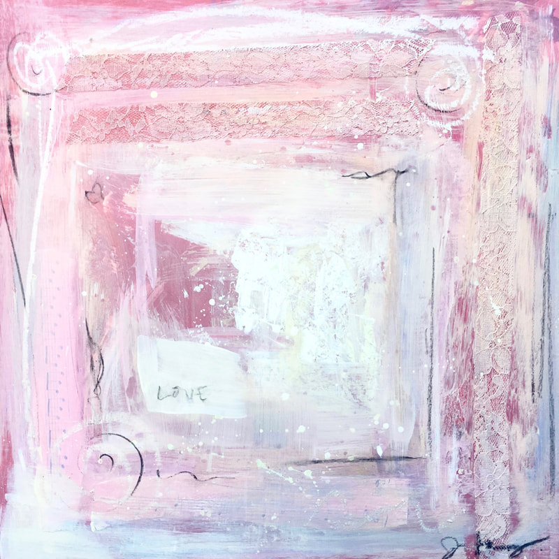 jenny king mixed media pink contemporary art