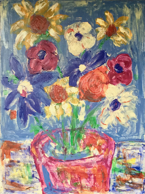 jenny king artist fun vibrant floral color