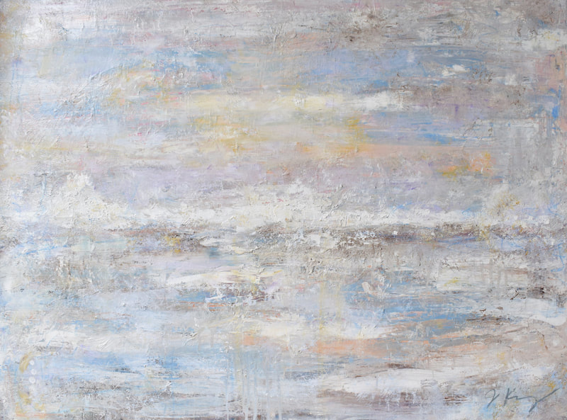 jenny king contemporary coastal art mixed media neutral palette amelia island fernandina beach fine art
