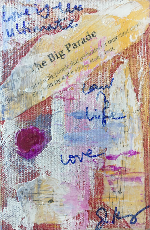 jenny king mixed media small works fun vibrant gifts art
